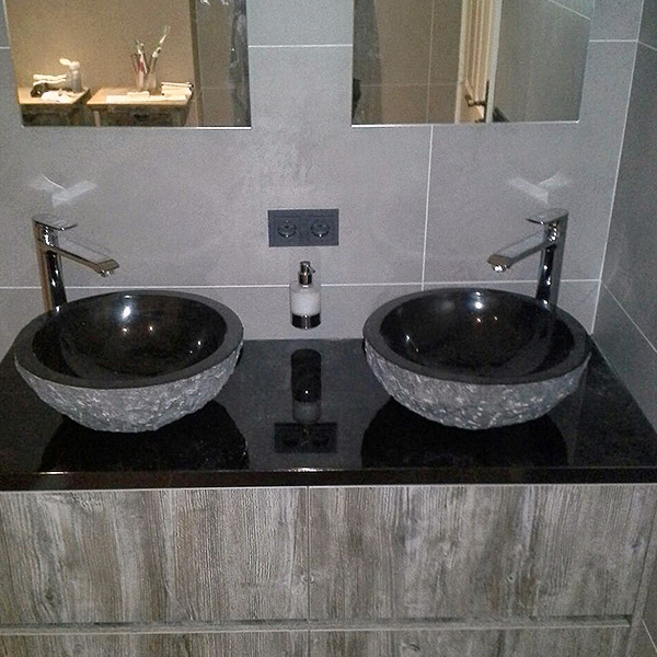 Emejing Wasbak Badkamer Natuursteen Contemporary - New Home Design ...