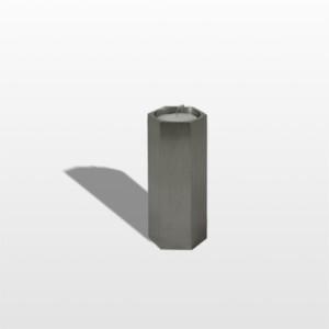 RVS urn candle zeskant Inhoud 0,05 L Afmeting 8 x 4,5 cm € 90,00