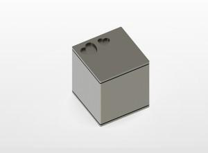 RVS urn Square Hearts Inhoud 0,8 L Afm. 10x10x10 cm € 275,00