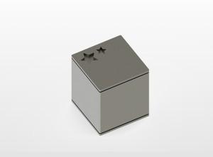 RVS urn Square Star Inhoud 0,8 L Afm 10x10x10 cm € 275,00
