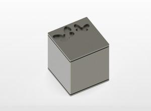 RVS urn Square butterfly Inhoud 0,8 L Afm. 10x10x10 cm € 275,00